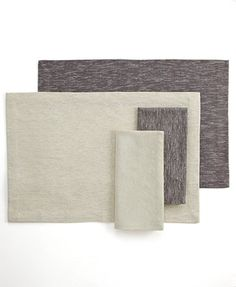 Dansk Table Linens, Shimmer Rib Napkin & Placemat Collection