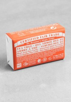 Dr. Bronner bar soap.  Our faves are the tea tree, almond, citrus, and peppermint.  My son uses this for body soap and shampoo.