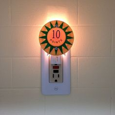 10 POINTS WHEN LIT Pinball Pop Bumper Night Light by Tiltcycle on Etsy