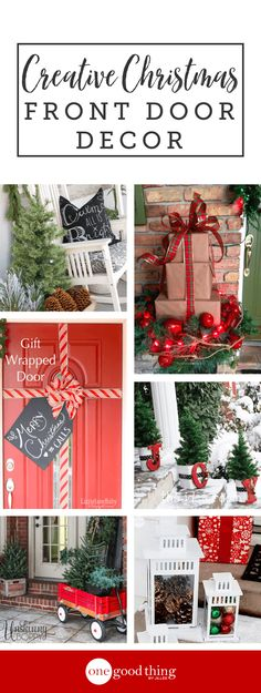Turn your front entry into a cheery focal point with these Christmas door decorating ideas that are so easy to recreate!