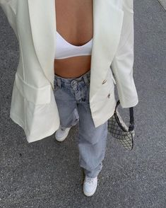 Trendy Fall Outfits, Cute Casual Outfits, Simple Outfits, Summer Outfits, Casual Clothes, White Outfits, Dress Summer, Stylish Outfits, Looks Street Style