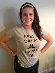 The lovely Chelsey Marie in her Gunmetal Edition Keep Calm Tee!  Click & Buy Now: http://mysocialtees.com/products/keep-calm-limited-edition-tshirt?pin