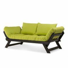 O Sofá-cama Zeloni funciona bem em ambientes despojados, quartos e salas de estar.