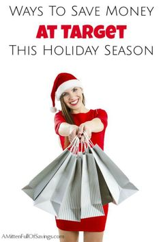 Click through to learn several Ways To Save Money At Target This Holiday Season! Frugal living and gifts ideas. A Mitten Full of Savings
