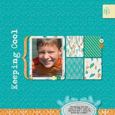 Mediterranean Market Click and Fill Digital Scrapbook Layout