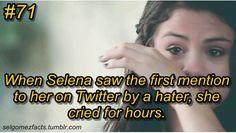 Selena Gomez Facts, Marie Gomez, Crying, My Love