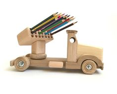 Wood toy for kids Pencil holder Wooden truck Learning toy Montessori wood toy for boy Desk organizer Educational model Childrens toy tractor – Wood Projects – Jungen Kids Woodworking Projects, Diy Projects For Kids, Learn Woodworking, Diy For Kids, Wood Projects, Woodworking Vise, Woodworking Finishes, Japanese Woodworking, Woodworking Basics