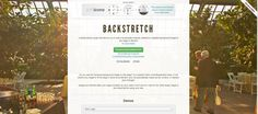 BACKSTRETCH: a simple jQuery plugin that allows you to add a dynamically-resized, slideshow-capable background image to any page