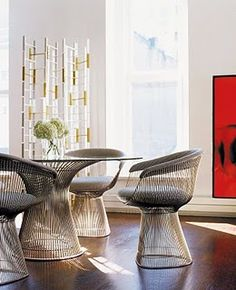 Platner arm chair, just one please: I like the Platner table too, but it is too much with the matching chairs
