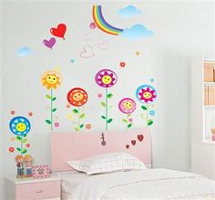Aosom Reusable Decorative Wall Sticker Decal - Colorful Flower $12.99