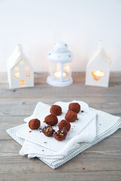 candied orange chocOlate truffles
