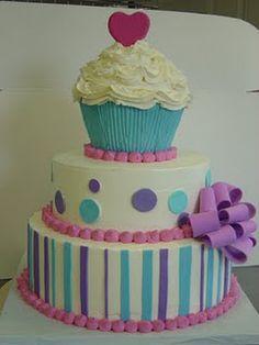 Cake Wrecks - Home Pretty Cakes, Cute Cakes, Beautiful Cakes, Amazing Cakes, 1st Birthday Cupcakes, Cupcake Party, Cupcake Cakes, 2nd Birthday, Unique Cakes