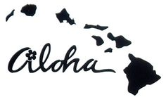 Aloha Hawaii  T04 Vinyl Decal  5 x 3 inches by thevinylpoint, $2.49