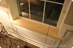 DIY renew old windowsills: craftsman window trim how to