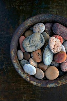 Rock | Pebble | Stone | 岩 | 石 | Pierre | камень | Pietra | Piedra | Color | Texture | Pattern | Bowl Of Stones