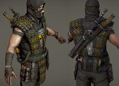 Post-Apocalyptic Armor | FIGHTER] Mortal Kombat - SCORPION - Stepanchikov - Polycount Forum