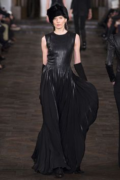 Ralph Laurn leather pleated detailing gown....Fall 2013