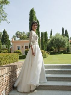 La boda de Lucía, con vestido de Teresa Palazuelo.