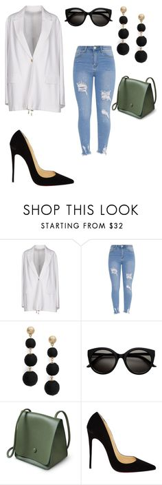 """Untitled #1874"" by mrstreschic ❤ liked on Polyvore featuring Acne Studios, R.J. Graziano and Christian Louboutin"
