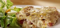Lasagne baked with classic bechamel and sauce