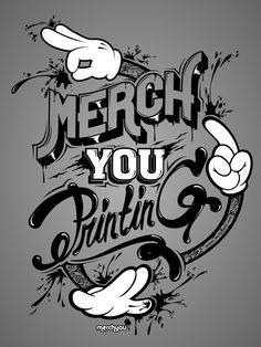 merchyou printing by SkNk DSGN, via Behance Typography Love, Typographic Design, Typography Letters, Typography Poster, Types Of Lettering, Lettering Design, Hand Lettering, Logo Design, Design Design