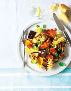 Warm Roasted Vegetable, Chicken & Pasta Salad - delicious!