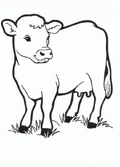 Cows Free Printable Coloring Pages No 13