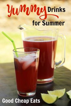 Cherry Limeade is a fun and refreshing drink. Make it with lime and tart cherry juices instead of dyed syrups and artificial flavors for a real food treat. Easy Baking Recipes, Real Food Recipes, Sweet Recipes, Healthy Recipes, Cat Recipes, Sandwich Recipes, Healthy Eats, Cherry Limeade Recipe, Tart Cherry Juice