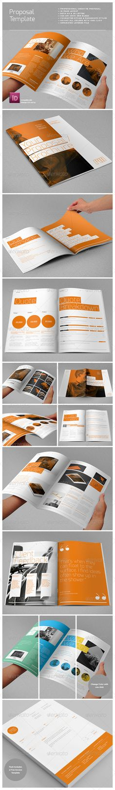 Buy Agency Proposal Template by RWDesignStudio on GraphicRiver. Features 18 page professional fully customisable proposal mockup was created with creative businesses in mind. Layout Design, Web Design, Print Layout, Page Design, Flyer Design, Book Design, Design Brochure, Brochure Layout, Design Resume