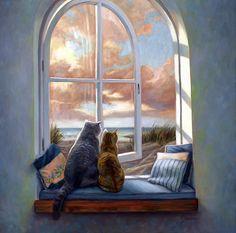 Кошки разные нужны... Художница Lucie Bilodeau. Обсуждение на LiveInternet - Российский Сервис Онлайн-Дневников