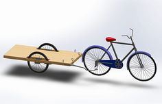 How to Build a Bicycle Cargo Trailer. If you love using your bicycle to get around, but find it difficult to carry everything you need with you, you might want a cargo trailer to haul more stuff. Build a simple, inexpensive cargo trailer. Homemade Trailer, Trailer Diy, Trailer Plans, Bike Cargo Trailer, Utility Trailer, Cargo Trailers, Bike Cart, Kayak Cart, Velo Cargo