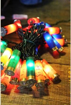 Shotgun shell multi color Christmas lights...
