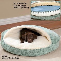Cozy diy dog bed ideas your friend will love 08 Cozy Cave Dog Bed, Dog Cave, Diy Dog Bed, Pet Beds Diy, Cute Dog Beds, Designer Dog Beds, Dog Furniture, Luxury Furniture, Diy Stuffed Animals