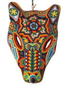 Huichol beaded jaguar