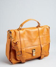 saffron leather 'PS1' large satchel
