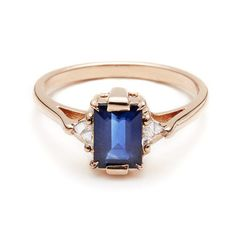 Blue Sapphire Bea by Anna Sheffield