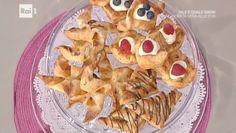 """La ricetta delle dolcezze di pasta sfoglia di Natalia Cattelani del 16 settembre 2016, a """"La prova del cuoco"""". Un dolce veloce ma goloso."""