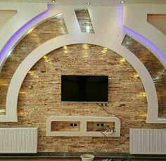 Plaster Ceiling Design, Interior Ceiling Design, Bedroom False Ceiling Design, Bedroom Wall Designs, False Ceiling Living Room, Ceiling Design Living Room, Tv Wall Design, Tv Unit Decor, Tv Wall Decor