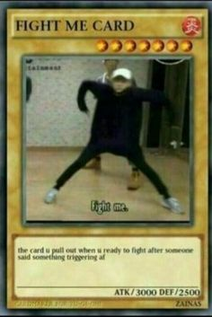 It's about to be a chick fight 👊💥 meme fight Yugioh Trap Cards, Funny Yugioh Cards, Funny Cards, Bts Memes Hilarious, Stupid Funny Memes, Funny Relatable Memes, Pokemon Card Memes, Response Memes, Conversation Cards