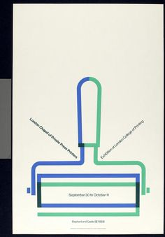 Tom Eckersley #poster #design #minimal