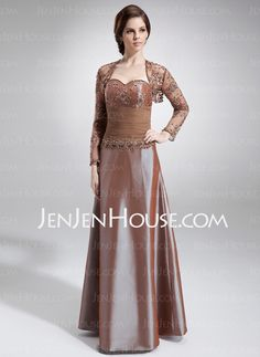 Mother of the Bride Dresses - $164.29 - A-Line/Princess Sweetheart Floor-Length Taffeta Mother of the Bride Dresses With Ruffle (008006297) http://jenjenhouse.com/A-line-Princess-Sweetheart-Floor-length-Taffeta-Mother-Of-The-Bride-Dresses-With-Ruffle-008006297-g6297