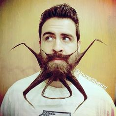 Funny Artwork Unique Beard Styles, Isaiah Webb transforms his beard into unique and works of art. Creative beard and facial hair designs are styled by Isaiah's wife Angela.