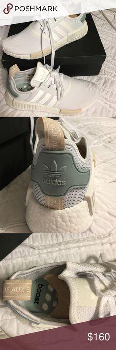 adidas nmd bianco / verde tattile autentico adidas nmd, nuova di zecca, 2