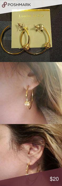 NWT Louise et Cie hoop earrings Beautiful hoops medium size. Jewelry Earrings