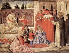 St. Dominic Reuscitates Napoleone Orsini, 1461 - Benozzo Gozzoli