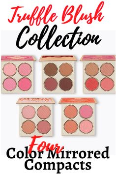 Add a sweet flush of color to your face with our Truffle Blush Collection, an irresistible assortment of blush palettes so delicious, they'll give you a sugar rush. The 4-color mirrored compacts feature soft, complementary hues infused with the decadent scent of assorted truffles. Each rich, blendable shade melts into the skin to effortlessly define features and brighten complexion. Travel Fashion, Travel Style, Vanilla Cream, Natural Make Up, Compact Mirror, Sugar Rush, Wedding Make Up, Truffles, Fashion Styles