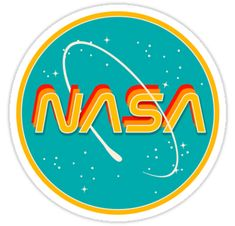 """Nasa retro"" stickers by emily zigo Tumblr Stickers, Phone Stickers, Cool Stickers, Printable Stickers, Preppy Stickers, Photographie Street Art, Vsco, Retro, Red Bubble Stickers"