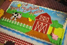 Austen's 2nd Birthday cake, farm theme.