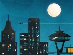 Night Sky Poster by Dangerdom