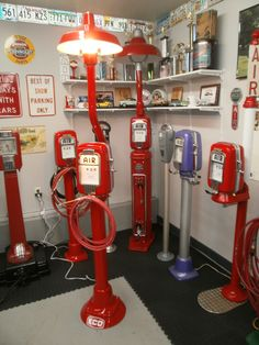 These are air meters I restored that where used in the 50's and 60's to fill tires with air.